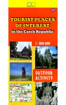 Tourist Places of Interest in the Czech Republic    1:800 000