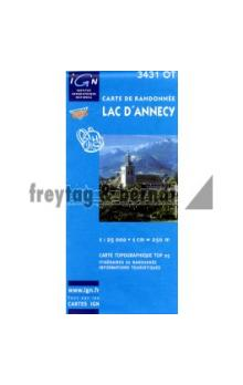 IGN 3431 OT Lac d' Annecy 1:25 000