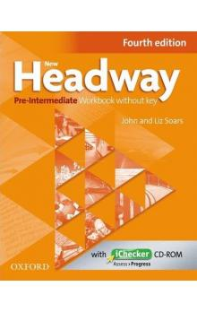 New Headway Pre-intermediate workbook without key + iChecker CD-ROM -- Fourth edition
