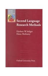 Oxford Applied Linguistics: Second Language Research Methods