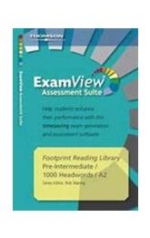 Footprint Readers Library Level 1000 Examview Suite CD-rom