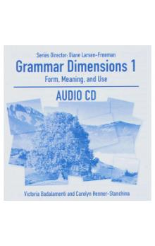 Grammar Dimensions: Form, Meaning and Use 1 Audio CD - Badalamenti Victoria