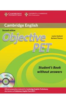 Objective PET Student's Book without Answers with CD-ROM -- Učebnice - Hashemi Louise, Thomas Barbara