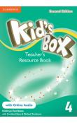 Kid's Box Level 4 Teacher's Resource Book with Online Audio, 2 ed -- Příručka učitele