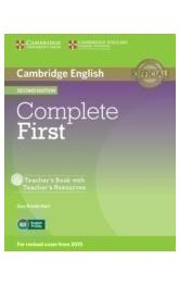 Complete First Teacher's Book with Teacher's Resources CD-ROM