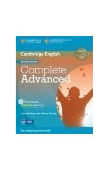 Complete Advanced Workbook without Answers with Audio CD -- Pracovní sešit