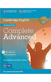 Complete Advanced Workbook with answers with Audio CD -- Pracovní sešit
