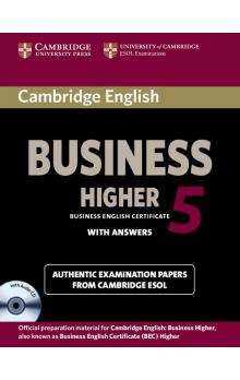 Cambridge English Business 5 Higher Self-study Pack (Student's Book with Answers and Audio CD) -- Rozšiřující vzdělávací materiály