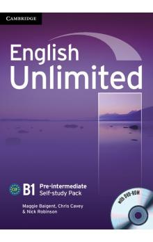 English Unlimited Pre-intermediate Self-study Pack (Workbook with DVD-ROM) -- Pracovní sešit