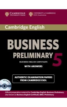 Cambridge English Business 5 Preliminary Self-study Pack (SB with Answers and Audio CD) -- Roz�i�uj�c� vzd�l�vac� materi�ly