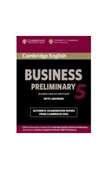 Cambridge English Business 5 Preliminary Student's Book with Answers -- Roz�i�uj�c� vzd�l�vac� materi�ly
