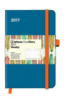 Di�� Cool Diary Petrol/Feather 2017 WEEKLY (9 x 14 cm)