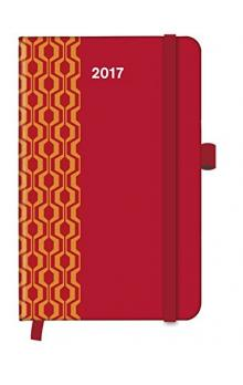 Diář Cool Diary PATTERN Red 2017 WEEKLY (9 x 14 cm)
