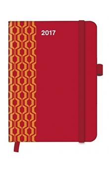 Diář Cool Diary PATTERN Red 2017 WEEKLY (16 x 22 cm)