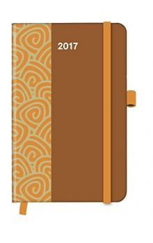 Cool Diary PATTERN Saddle Brown 2017 WEEKLY (9 x 14 cm)