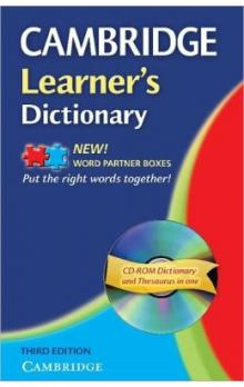Cambridge Learner's Dictionary 3rd Edition + Cd-rom