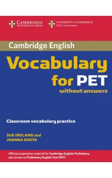 Cambridge Vocabulary for PET Edition without answers -- Učebnice
