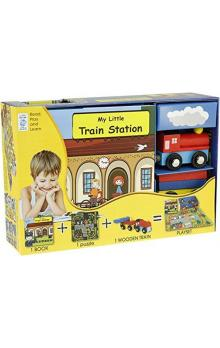 My Little Book about Trains (Book, Wooden Toy & 16-piece Puzzle)