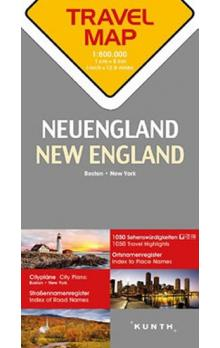 New England  1:800T  TravelMap KUNTH