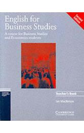 English for Business Studies: Teacher´s Book