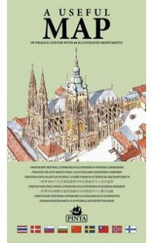 A useful map -- of Prague center with 69 illustrated monuments