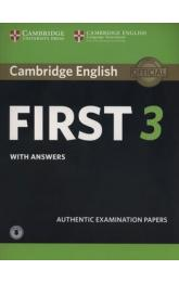 Cambridge English First 3 Student´s Book with Answers with Audio