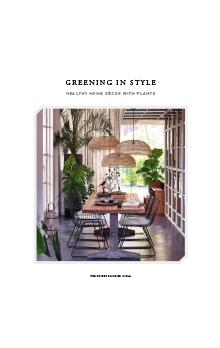 Greening in Style. Healthy home décor with plants